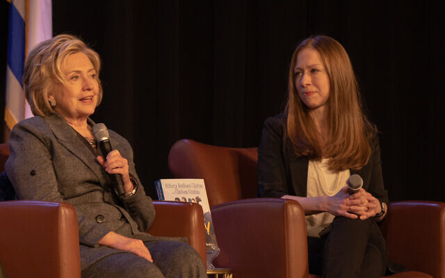 Photo by Eddie Samuels // Hillary and Chelsea Clinton share the stories of some of the many women profiled in their book.