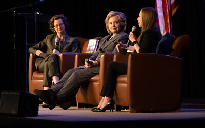 Photo by Eddie Samuels // Michelle Nunn, who leads CARE USA and ran for U.S. Senate in 2014, interviews the Clintons about their book and lives.