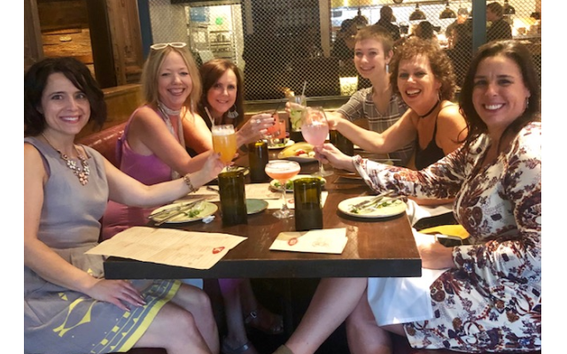 Girls' night out at Gypsy Kitchen toasting to Jen's 50th birthday.