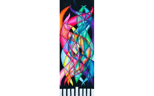 Sophie Cohen Color Spectrum Chanukiot The Davis Academy, Eighth Grade