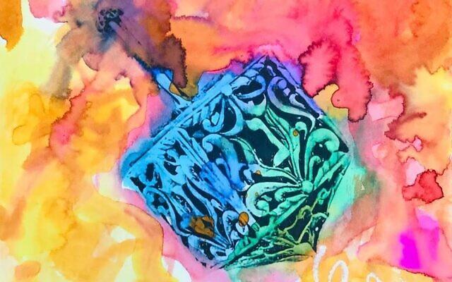 Tyler Frist Spinning Dreidel Pop Art The Davis Academy, First Grade,