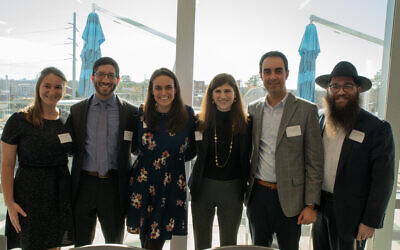 The six 40 Under 40 panelists were Rabbi Samantha Trief, David Hoffman, Kelly Cohen, Julie Katz, Brian Weiss and Rabbi Chaim Aharon Green.