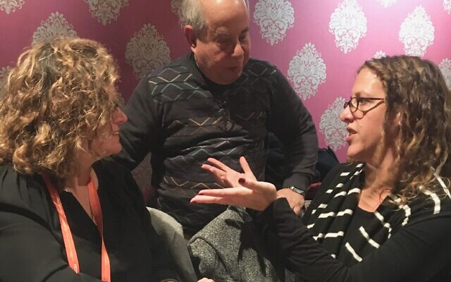 In Chicago from Temple Sinai are: Cantorial chair Beth Shafer, URJ board member Howard Fagin, director of Learning and Engagement Marisa Kaiser.
