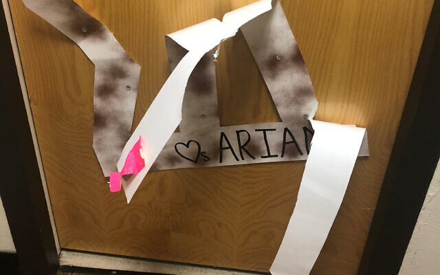 Photo courtesy of Ariana Dinberg // Ariana Dinberg found this sign on her door ripped.