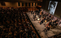 """""""Hours of Freedom: The Story of the Terezin Composer"""" was performed at Ahavath Achim for over 1,000 guests."""