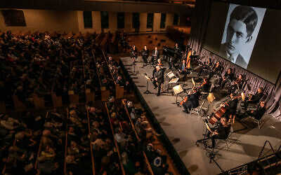 """Hours of Freedom: The Story of the Terezin Composer"" was performed at Ahavath Achim for over 1,000 guests."