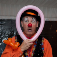 Known as Ruby the Clown, Reuben Haller entertains at various events.