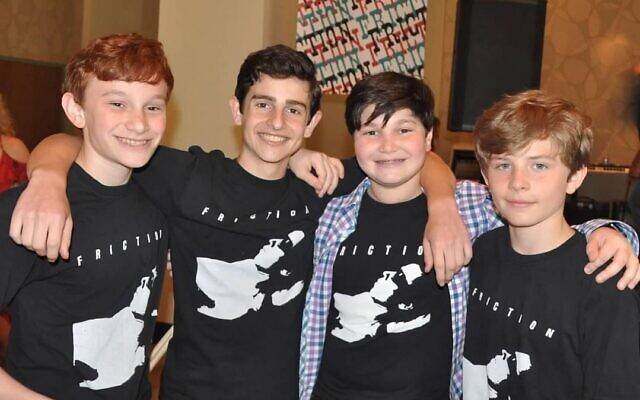 Friction has been together as a band since they were in sixth grade and 12 years old. Their average age is now 15.