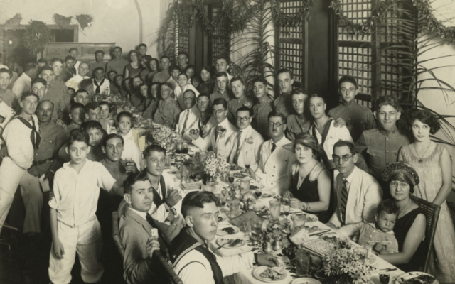Jews have lived in the Philippines since the 1870s. This community seder was held in Manila in 1925.