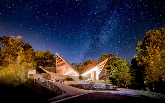 The Doris Zaban Chapel at Camp Barney Medintz is a great place to relax and unwind each week.