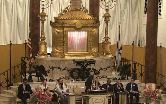 Rabbi Peter Berg led The Temple's annual interfaith Shabbat service honor the Rev. Martin Luther King.
