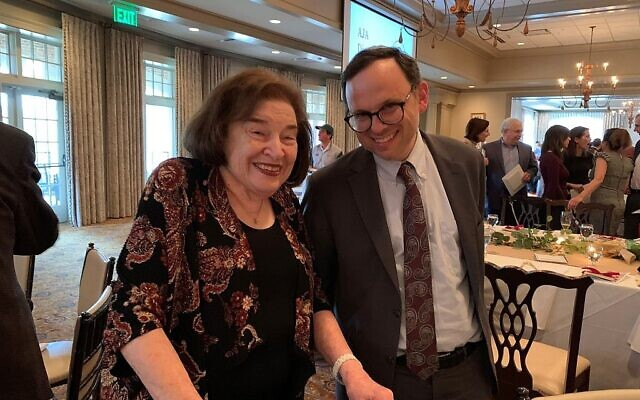 Betty Minsk at an Atlanta Jewish Academy event earlier this year. Minsk was a longtime supporter of AJA.