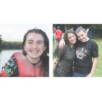 Hannah Freedman and Rachel and Deborah Broyde at Camps Maor and Stone respectively.