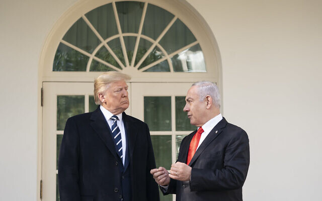 Prime Minister Benjamin Netanyahu, right, supports President Donald Trump's peace plan for the Middle East.