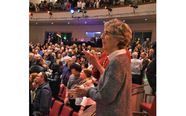 The event audience of 1,100 people filled all three levels of the Byers Theatre at City Springs.