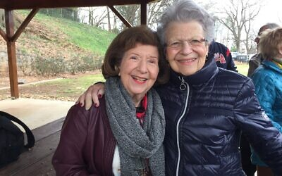Betsy Teplis and Shirley Mosinger celebrated their birthdays Jan. 26 at The Breman Museum's tour of Girls High School (now The Roosevelt Historic Apartment Homes). Teplis was Class of 1944; Mosinger, Class of 1946. It was the first time Mosinger had seen the school since graduating.