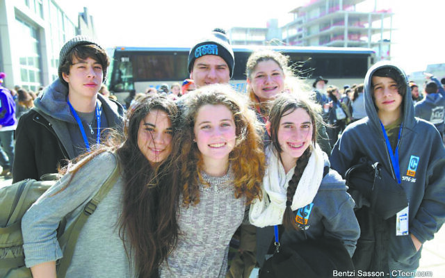 Jewish teens network in CTeen, a club with fun programs and meaningful projects.