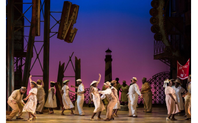 "The Atlanta Opera's staging of ""Porgy and Bess"" shown here is based on the 2017 production created by Francesca Zambello at the Glimmerglass Festival in New York."