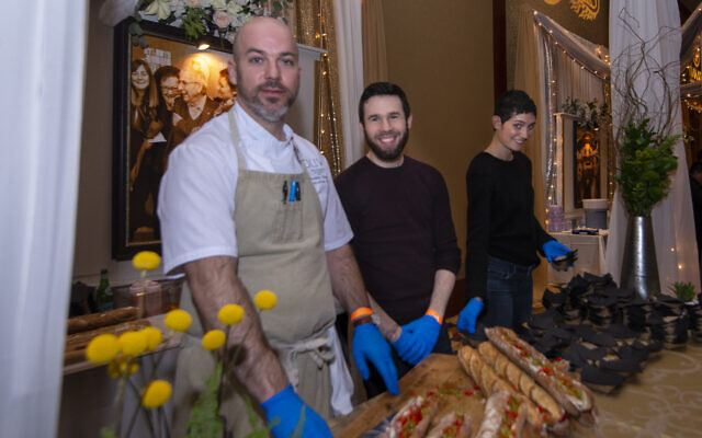 The crew from Aziza served a tasty herring baguette with tomato jus and spicy pickles.