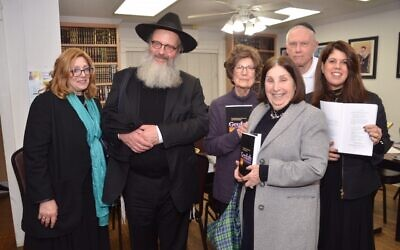 At the Ner Hamizrach event were: Ahava and Rabbi Pinchas Winston, Sheila Bleich, Gail Ripans, Dr. Allan Bleich and Jackie Dimont