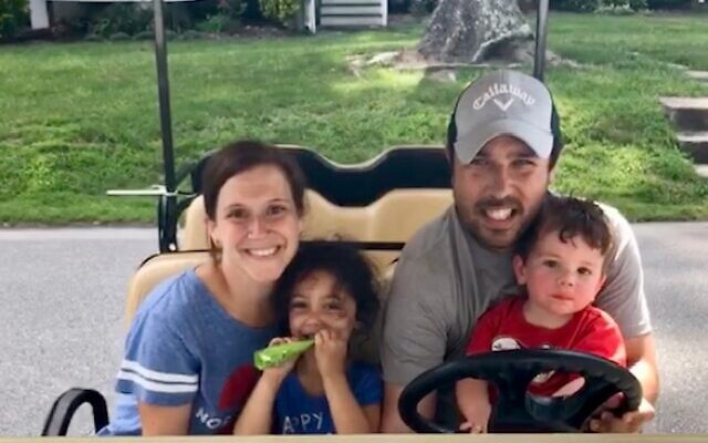 The Zeligman family visited camp this past summer.
