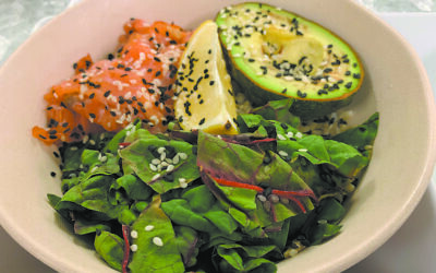 The avocado and Scottish salmon bowl is a menu fave.