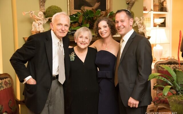 Sam Appel, father of the bride, mother of the bride Judy Appel, the Jewish Martha Stewart, pose with Andrea and new son-in-law Joel.
