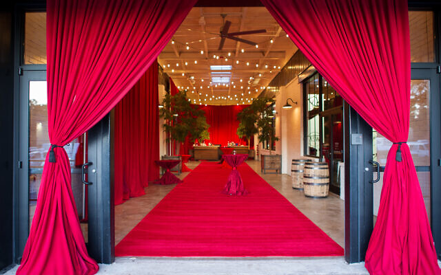 Entrance to The Stave Room sets the vibrant red-hot tone for the night's excitement