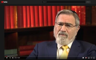 "The former Chief Rabbi told Newsnight the coronavirus pandemic was ""the nearest we have to a revelation"" and would try the UK as ""the nation was tried during World War Two""."