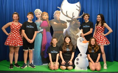 "The cast of ""Frozen Jr."" at rehearsal for their production next week."