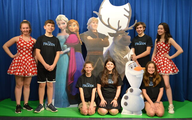 """The cast of """"Frozen Jr."""" at rehearsal for their production next week."""
