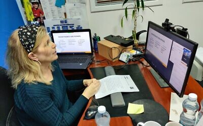 The virtual fair included multiple online lectures on a wide range of Aliyah topics, Attorney Jane Olman participates virtually.