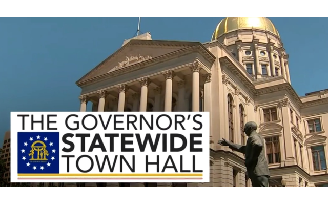Georgia Statewide Town Hall address was aired on March 26, at 8 p.m.