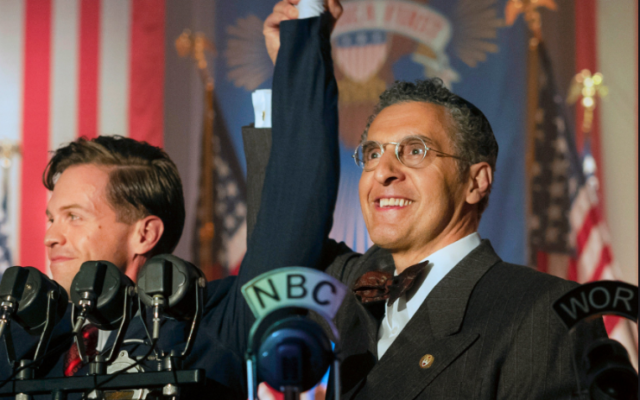 "Actor John Turturro portrays an American rabbi who lends critical support to Charles Lindbergh's successful run for the presidency in HBO's ""The Plot Against America."""