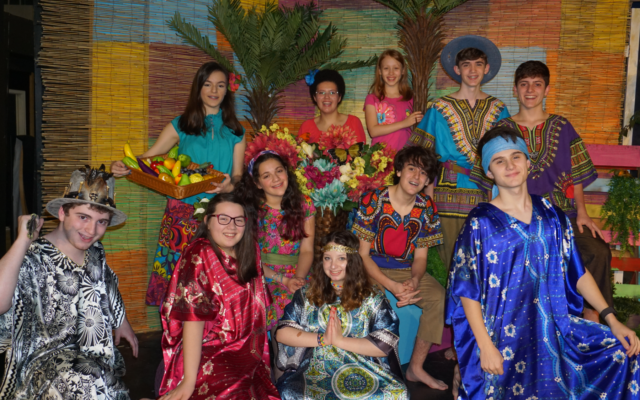 "The cast of ""Once on This Island"" include front row: Jordan Liban, Liana Bernstein, Miriam Burmenko and Jake Friedman; middle row: Amelia Heller and Sammy Lebowitz; and back row:  Eliana Glusman, Cece Robinson, Kayla Furie, Jordan Joel and Dov Karlin."
