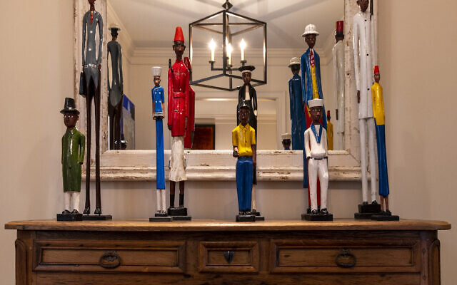 Duane Stork Photography// Siegel curated this collection of wood soldiers from South Africa and Malawi when he was on the board of  UNICEF.