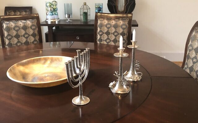 Collection of Judaica in a private home in Sandy Springs of Rickles' client.