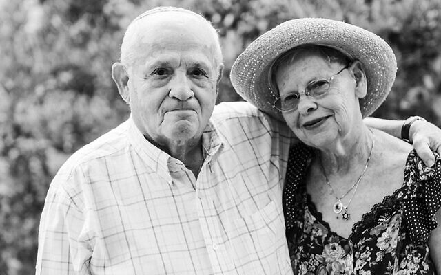 Holocaust survivor Hershel Greenblat with his wife Rochelle. Hershel attends Jewish Family & Career Services' Café Europa, a monthly social gathering for Holocaust survivors.