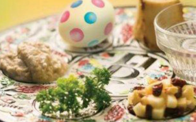 The recent invitation to interfaith couples for a discussion of Easter and Passover came with a seder plate that had an Easter egg.