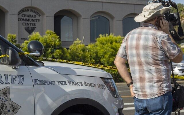 The shooting at a Poway, Calif., Chabad Center in April 2019 left one woman dead and three injured, including a rabbi shot in the hand.