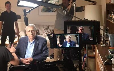 """Photo by Jeffery Johnson// Morton Waitzman was interviewed in his apartment for the """"National Geographic"""" documentary """"World War II in Europe: Voices from the Front."""""""