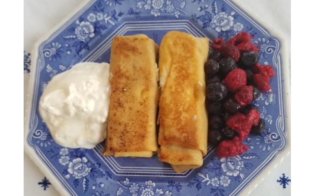 "Doris Koplin's recipe for citrus cheesecake is included in the Ahavath Achim Sisterhood cookbook ""And It Was Good!"""