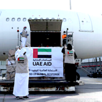First-ever cargo flight between UAE and Israel brought medical supplies for Palestinians.