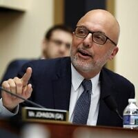 House Judiciary Committee member Rep. Ted Deutch, Democrat of Florida, questions FBI Director Christopher Wray during a House Judiciary hearing on Capitol Hill in Washington, December 7, 2017, on Oversight of the Federal Bureau of Investigation. (AP Photo/Carolyn Kaster)