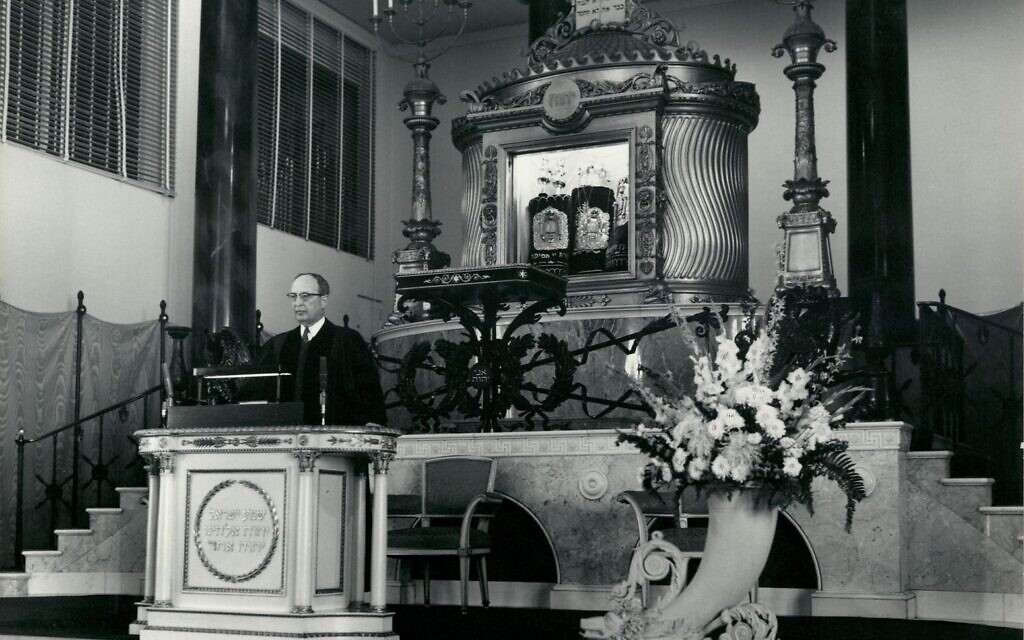 Rabbi Jack Rothschild is remembered on the bimah at The Temple