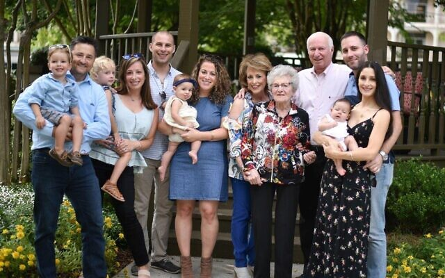 Miriam Saul's family at her mother's 95th birthday.