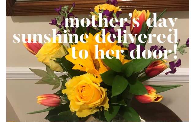 Mother's Day was a big success for Rubenstein, who took safety precautions delivering bouquets.