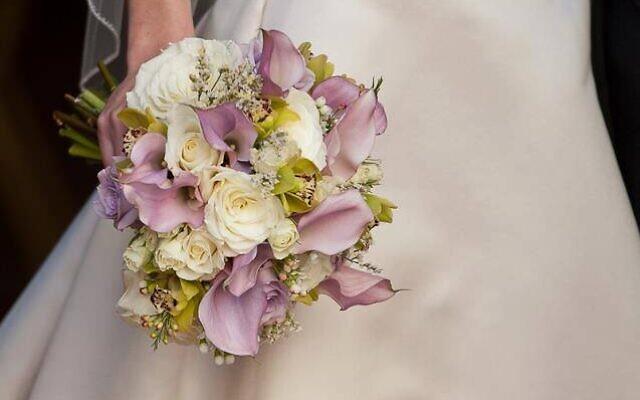 An example of a wedding bouquet.