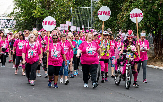 Photo of participants from last year's Walk for Breast Cancer. This year, the walk will be open to people globally to sign up virtually.