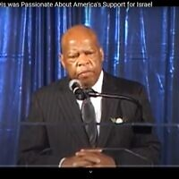 Congressman John Lewis shares his thoughts and feelings about Israel at the Georgia World Congress Center on Aug. 14, 2011.